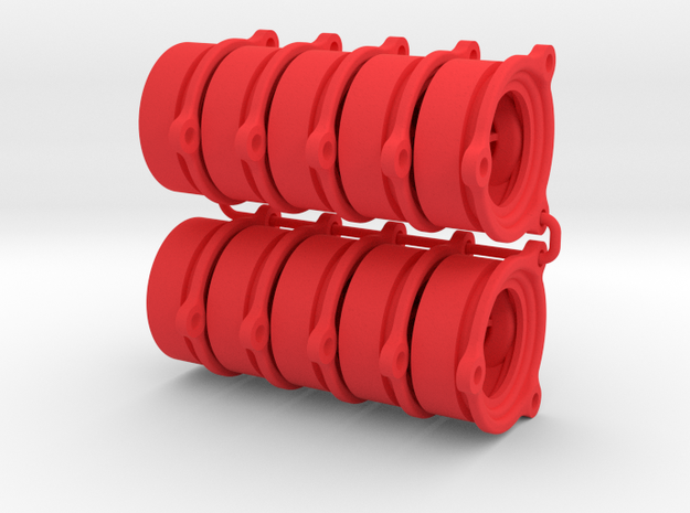 O-ring BackPlate 10 pack in Red Processed Versatile Plastic