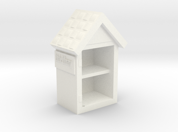 Little Library Part# 1: Bookshelf in White Processed Versatile Plastic