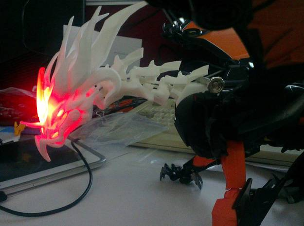 Ultimate TFP Beast King Head + Neck 3d printed still lights up!