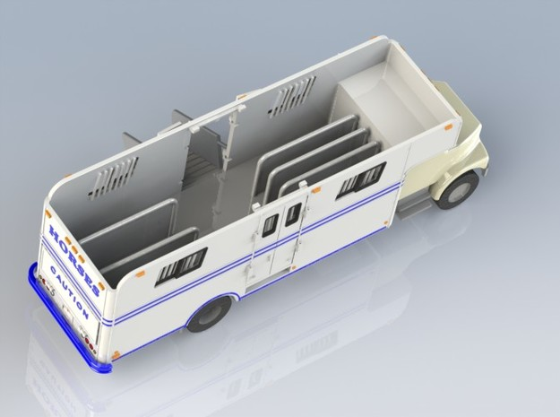 HO 1/87 Horsebox 1978 Imperatore 6, International  in Smooth Fine Detail Plastic
