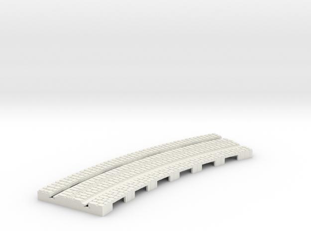P-165stw-curve-tram-long-204r-plus-w-1a in White Natural Versatile Plastic