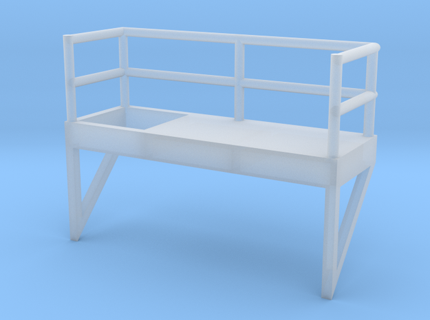 'N Scale' - 10' Ladder Platform - Right Side Openi in Smooth Fine Detail Plastic