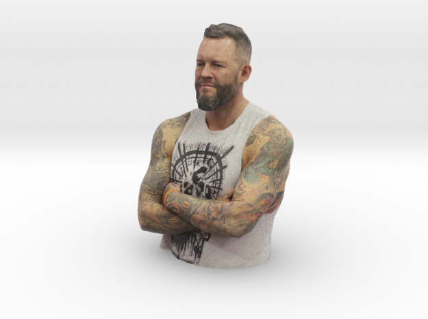 Mike Davenport - Heroes of Tattoo 150mm bust in Full Color Sandstone