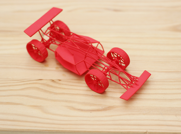 Race Car in Red Strong & Flexible Polished