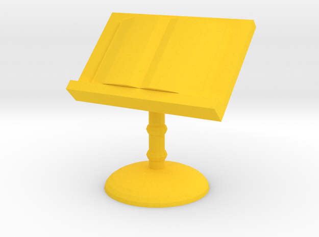 Book On Library Stand Game Pawn in Yellow Processed Versatile Plastic