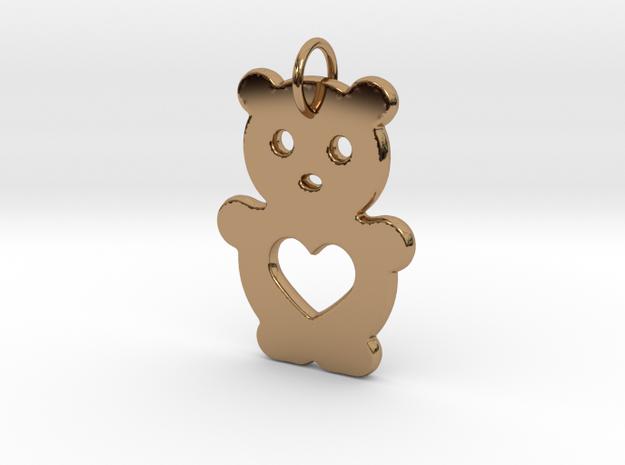 Teddy Bear in Polished Brass