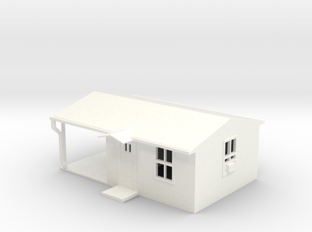 Cabin in White Processed Versatile Plastic