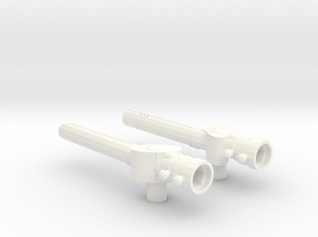 Two-Piece Battlestaff in White Processed Versatile Plastic