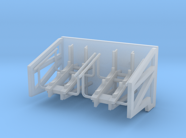 1:96 scale Life Boat side hangers - standard in Smooth Fine Detail Plastic