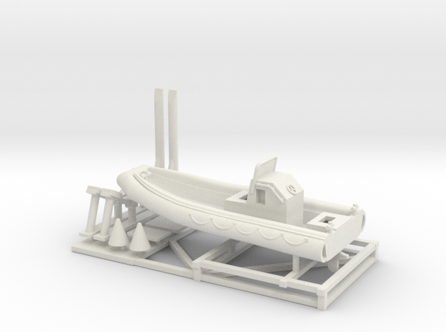 1/72 Scale 23 foot Navy Boat RHIB (RIB) in White Strong & Flexible