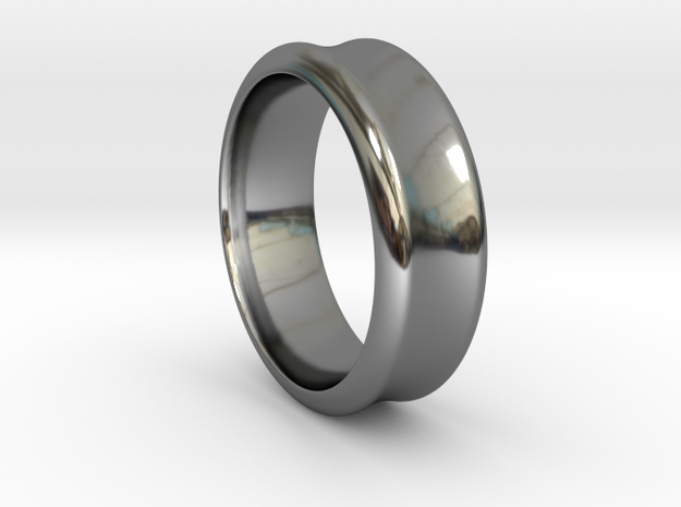 Rail Ring in Fine Detail Polished Silver
