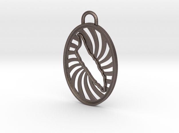 Aruba Keychain in Polished Bronzed Silver Steel