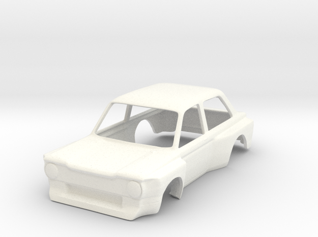 Imp Super Saloon 1:32 in White Strong & Flexible Polished