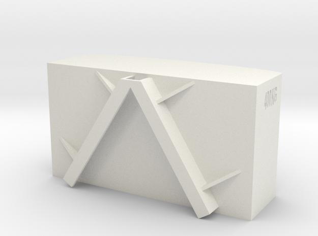 Frontgewicht 1/16 in White Natural Versatile Plastic