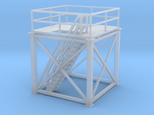 'N Scale' - 10'x10'x10' Tower Top with Stairs in Smooth Fine Detail Plastic