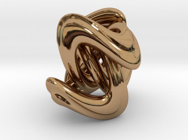 Quadratic Bead (2.5 cm) in Polished Brass