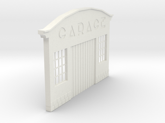 Z-1-32-garage-1 in White Natural Versatile Plastic