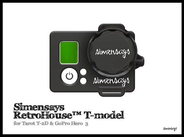 Simensays RetroHouse™ T-model in Black Strong & Flexible