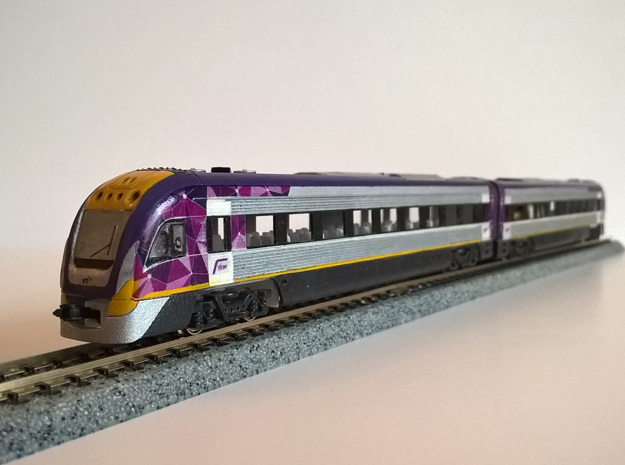 N.01A - N Scale V/Line V'Locity DMU in Smooth Fine Detail Plastic