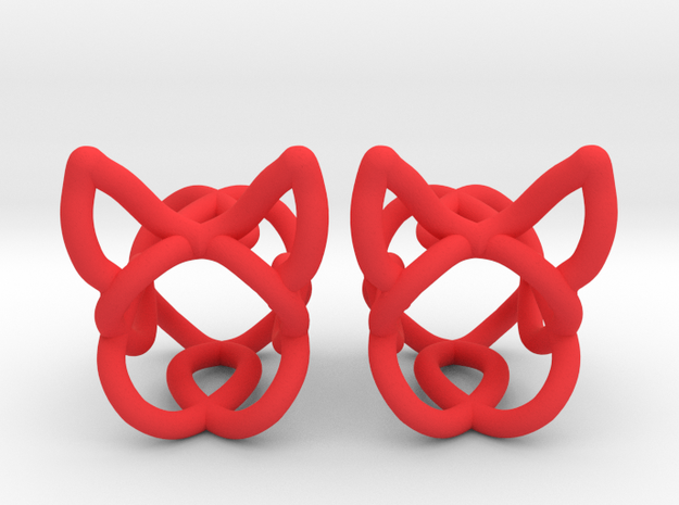 The Ears Plugs / gauge / size 4g (8mm) in Red Processed Versatile Plastic