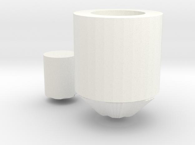 Saber pommel 3 in White Processed Versatile Plastic