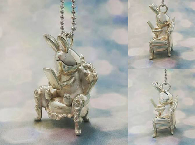 Phoneholic Rabbit pendant