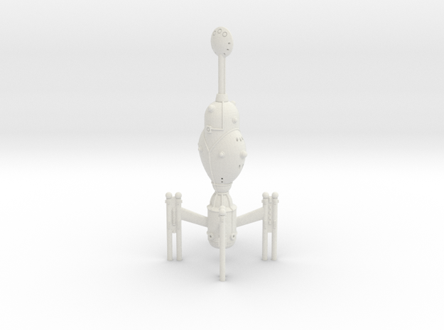Invader Heavy Cruiser in White Natural Versatile Plastic