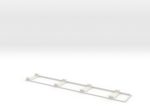 D-1 Body Support Frame in White Natural Versatile Plastic