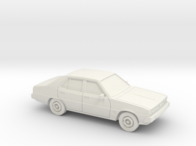 1/43 1978 Mitsubishi Galant Sedan in White Natural Versatile Plastic