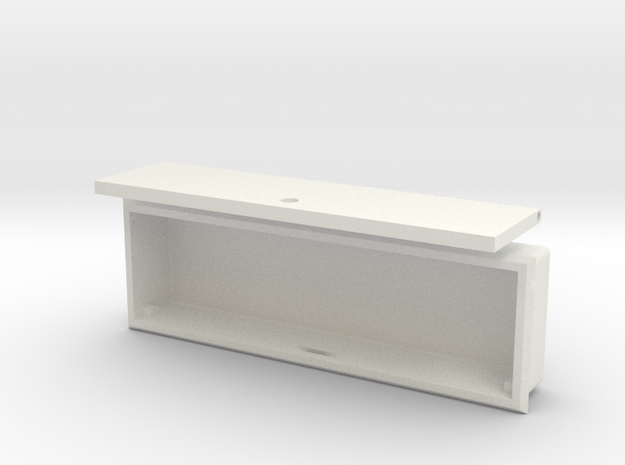 """AXIAL"" FC LONG BOX in White Natural Versatile Plastic"