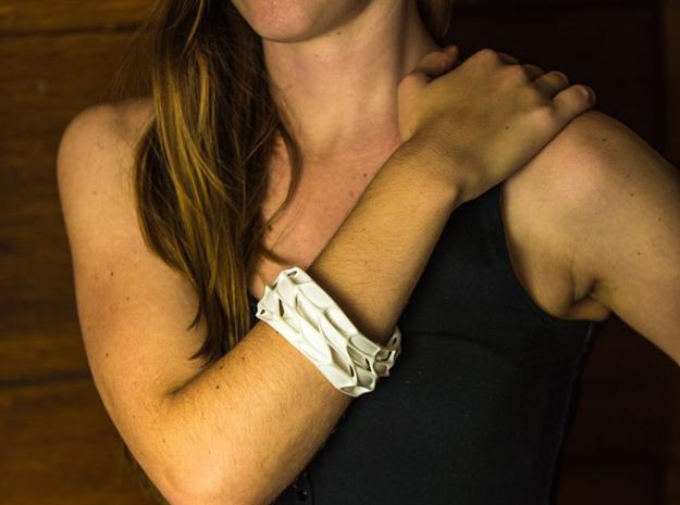 Panel Twist Bracelet (sz S/M) 3d printed