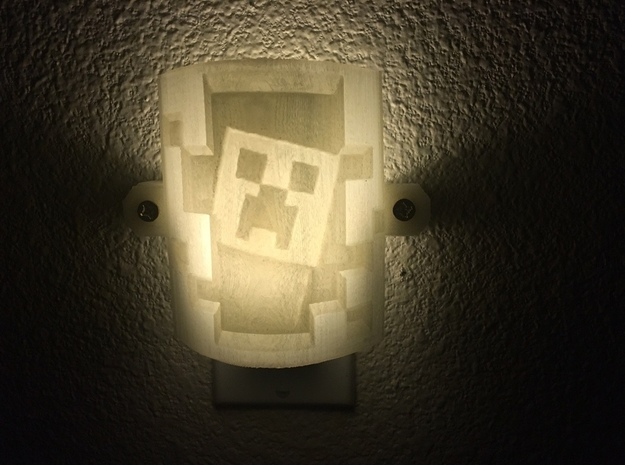 Minecraft Lithophane Nightlight Cover in White Strong & Flexible