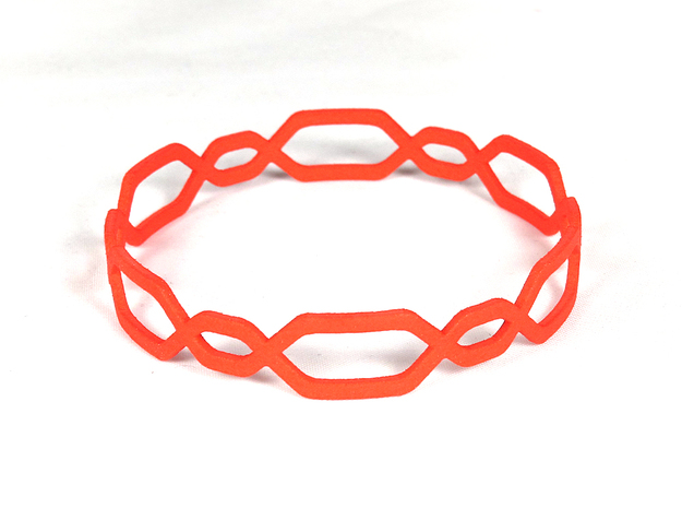Jasmine Bangle in Red Strong & Flexible Polished