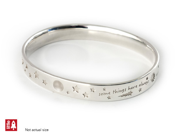 Some things Bracelet in Polished Silver