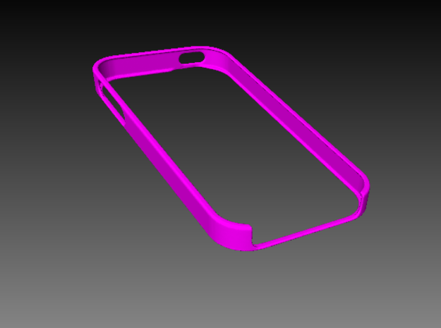 iPhone [SE] bumper in Pink Processed Versatile Plastic