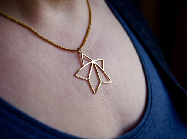 Achievement Star Pendant in Polished Brass