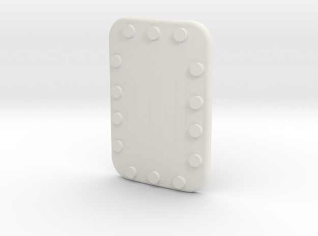 Soyuz Riveted Plate 15 X 22 in White Natural Versatile Plastic