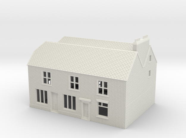 RHS-2 N Scale Rye High Street building 1:148 in White Strong & Flexible
