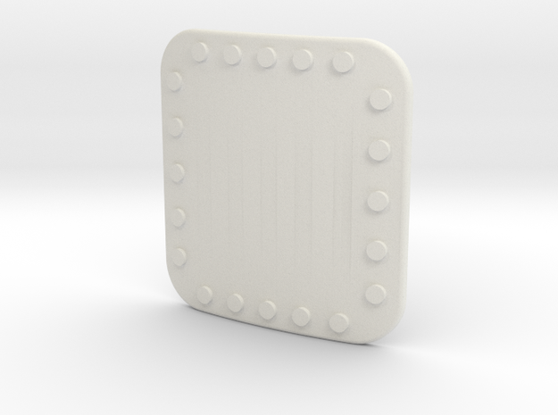 Soyuz Riveted Plate 28 X 30 in White Strong & Flexible