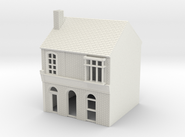 RHS-4 N Scale Rye High Street building 1:148 in White Natural Versatile Plastic