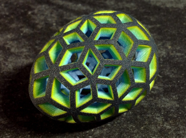 Mosaic Egg #10 in Full Color Sandstone