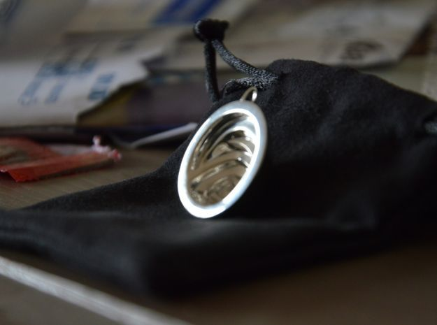 Oliver Birth Pendant in Fine Detail Polished Silver