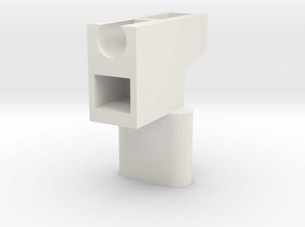 LGS - Handle Adapter (PE Version) in White Natural Versatile Plastic