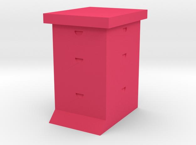 Ultra Bee Hive Sculpture in Pink Processed Versatile Plastic