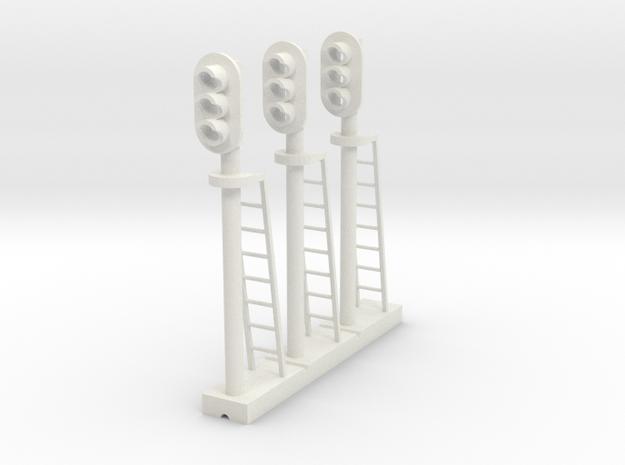 Block Signal 3 Light (Qty 3) - HO 87:1 Scale