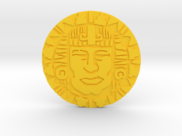 Pendant Of Life in Yellow Processed Versatile Plastic