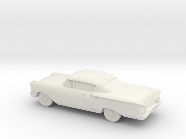 1/87 1958 Chevrolet Impala Coupe in White Natural Versatile Plastic