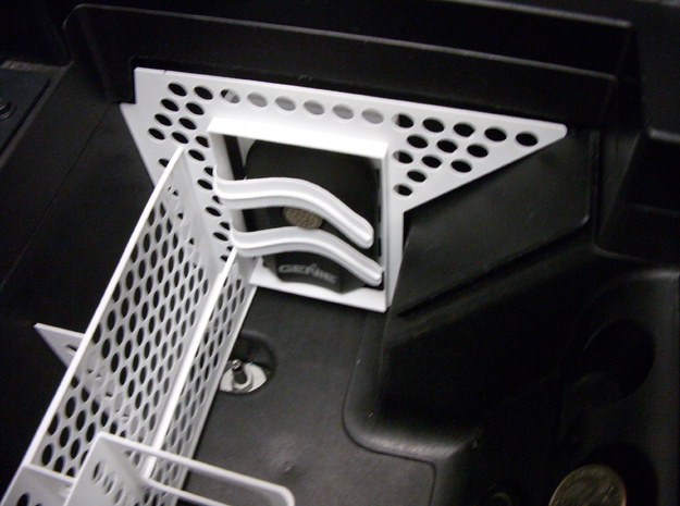 Mustang Console Organizer 3d printed Garage door opener compartment