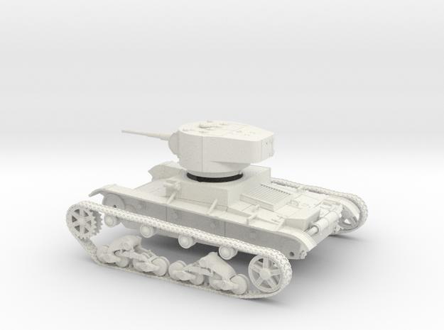VBS Soviet light tank T26 1934 1:48 28mm wargames in White Natural Versatile Plastic