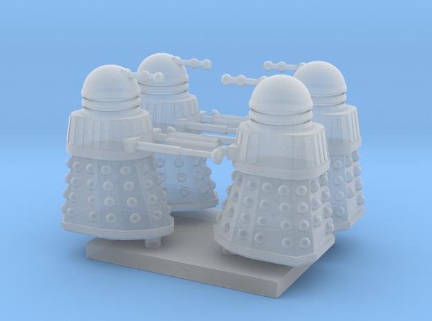 Dalek02 (4) N 160:1 Scale in Smooth Fine Detail Plastic